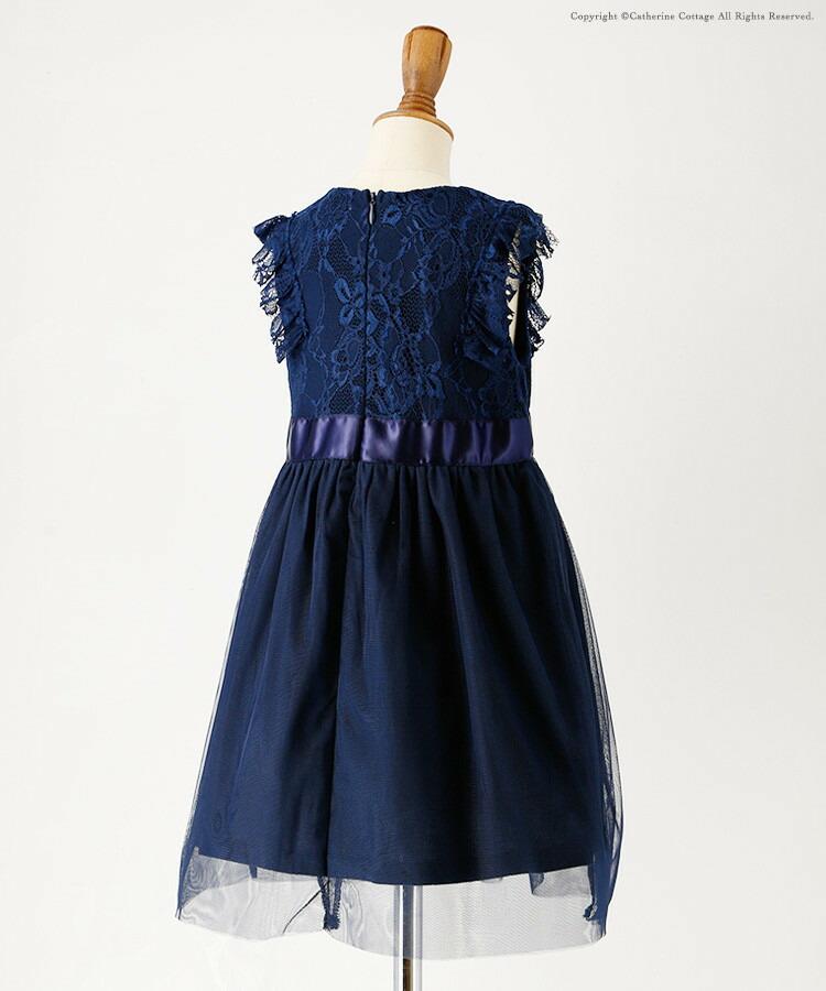 キッズドレス紺色ネイビー