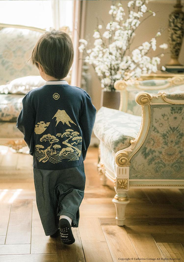男の子袴ロンパース