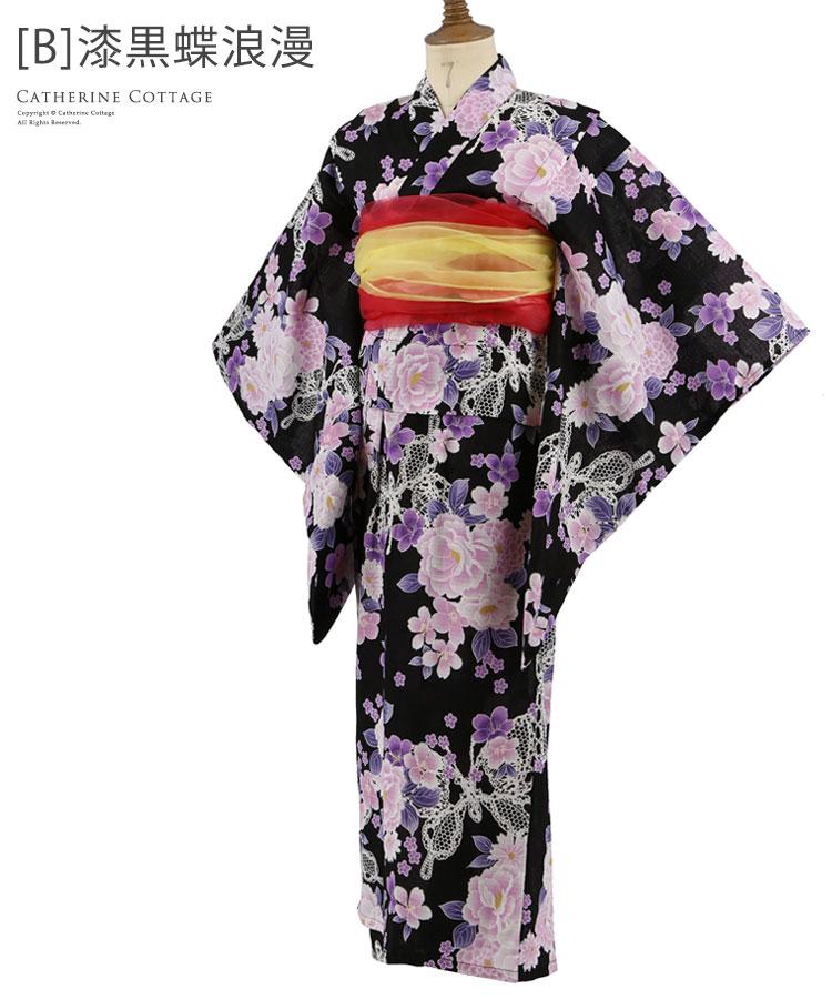 女の子 浴衣 蝶
