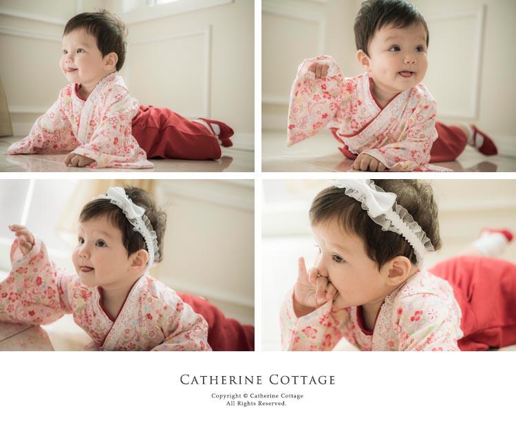 袴 ロンパース 女の子 赤ちゃん ベビー 和装 和服 赤 紫 和風 0歳 1歳 2歳