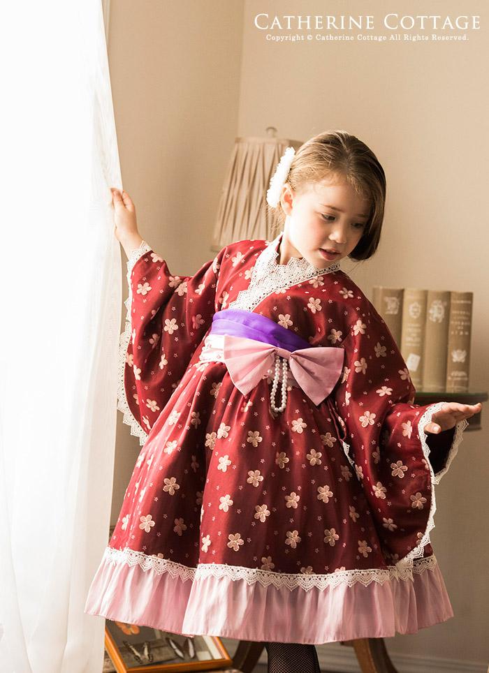 七五三 子供服 着脱簡単 着物ドレス ワンピースタイプ