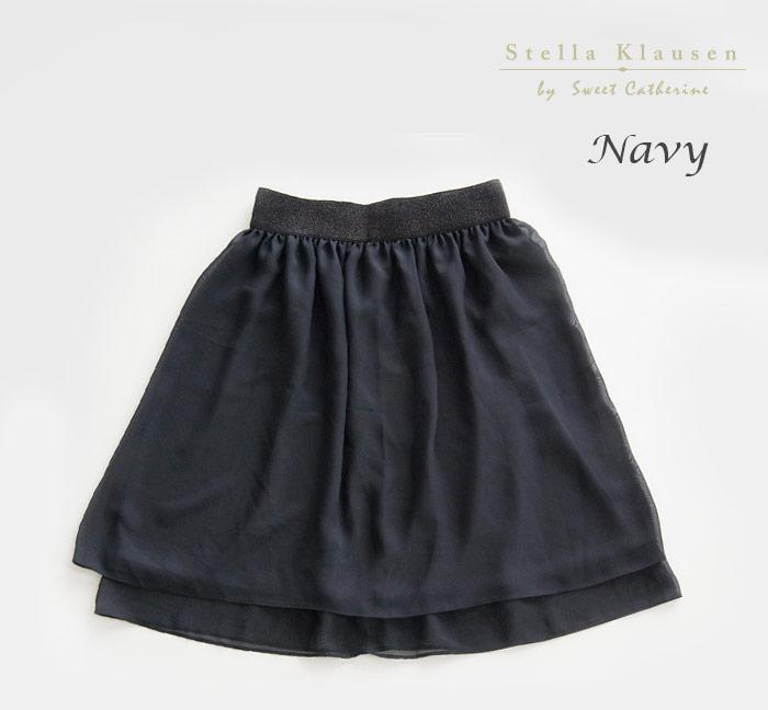 レディース シフォン スカート ブラック