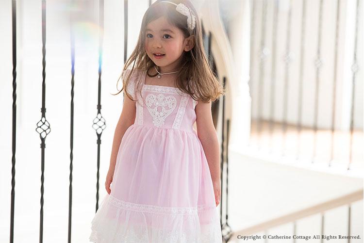 5d2c8d3ac3a9d 子供ドレス ハート フラワーレースシフォンワンピース ピアノの発表会や結婚式のおよばれに