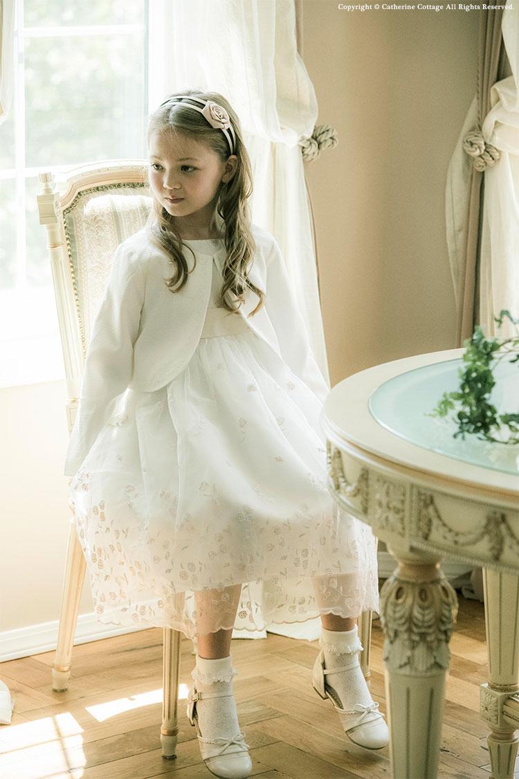 子供ドレス ピアノ発表会に 刺繍