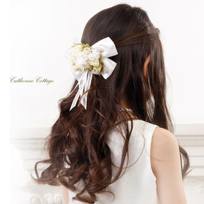 送料無料 フラワーコーム ヘアアクセサリー 髪飾り 子供フォーマルドレス用 【キャサリンコテージ本店
