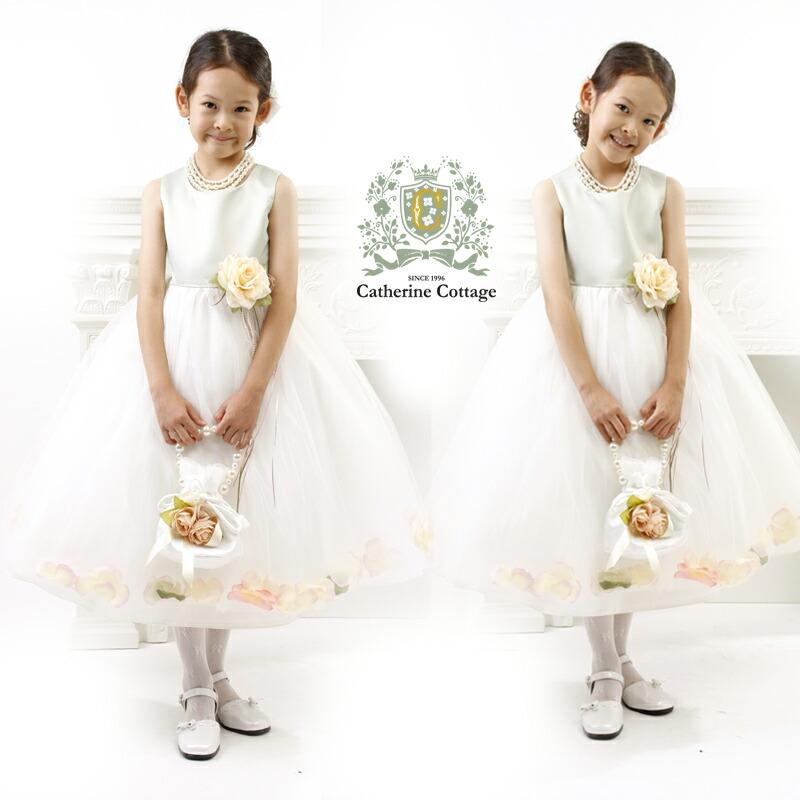 c38d5e52ba67f 楽天市場 子どもドレス エレガントサテン花びらドレス 子供ドレス 発表 ...