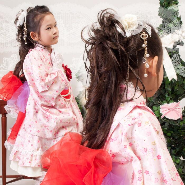 ゴージャスウイッグシュシュ カール&みつあみ 子供・婦人兼用 七五三 結婚式 キッズ レディース ドレスや着物にあわせても◎♪