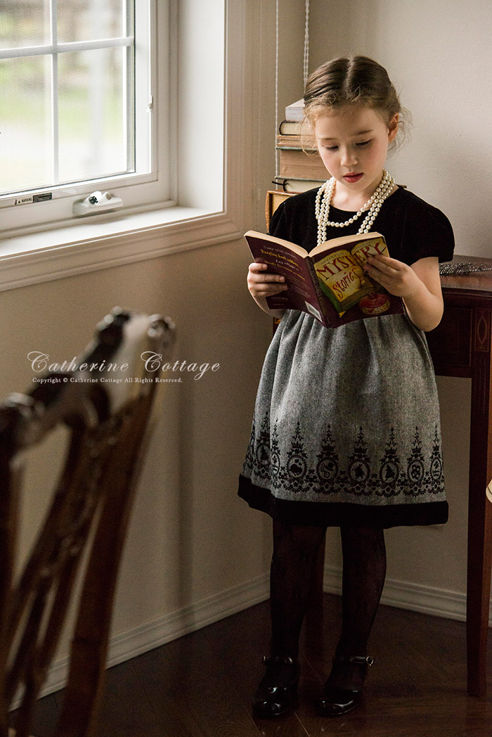 5ade6706b2e52 楽天市場 子供ドレス 発表会 女の子 アリスフロッキープリントのベロア ...