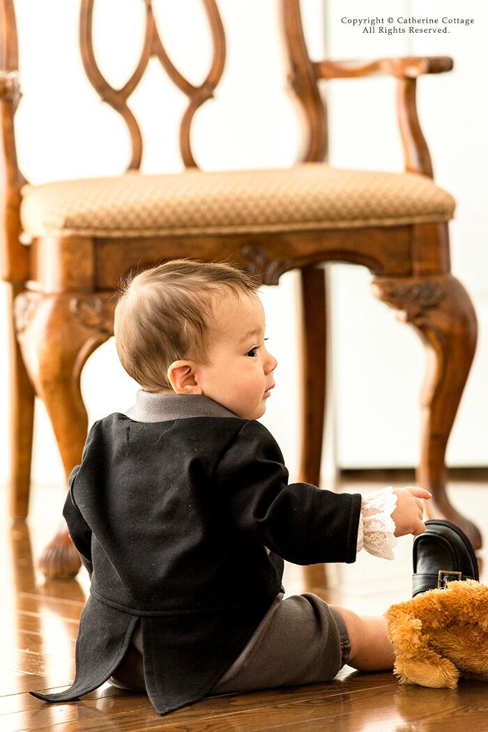 王子さまロンパース 王子様 タキシード ベビー服 フォーマル 結婚式 男の子