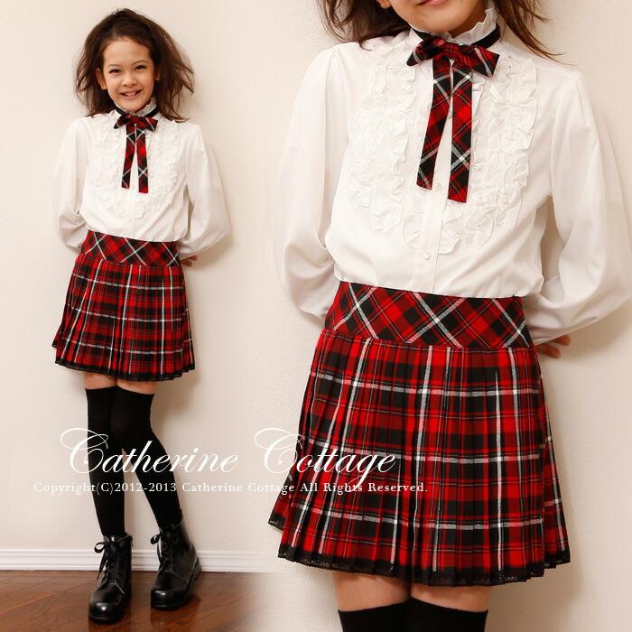 立ち襟フリルブラウス ドレスやワンピースに合わせて♪ キッズ 子供 女の子 ガールズ フォーマル 入学式 卒業式 [白][おでかけ][法事][刺繍][フリル][ブラウス][卒入学]