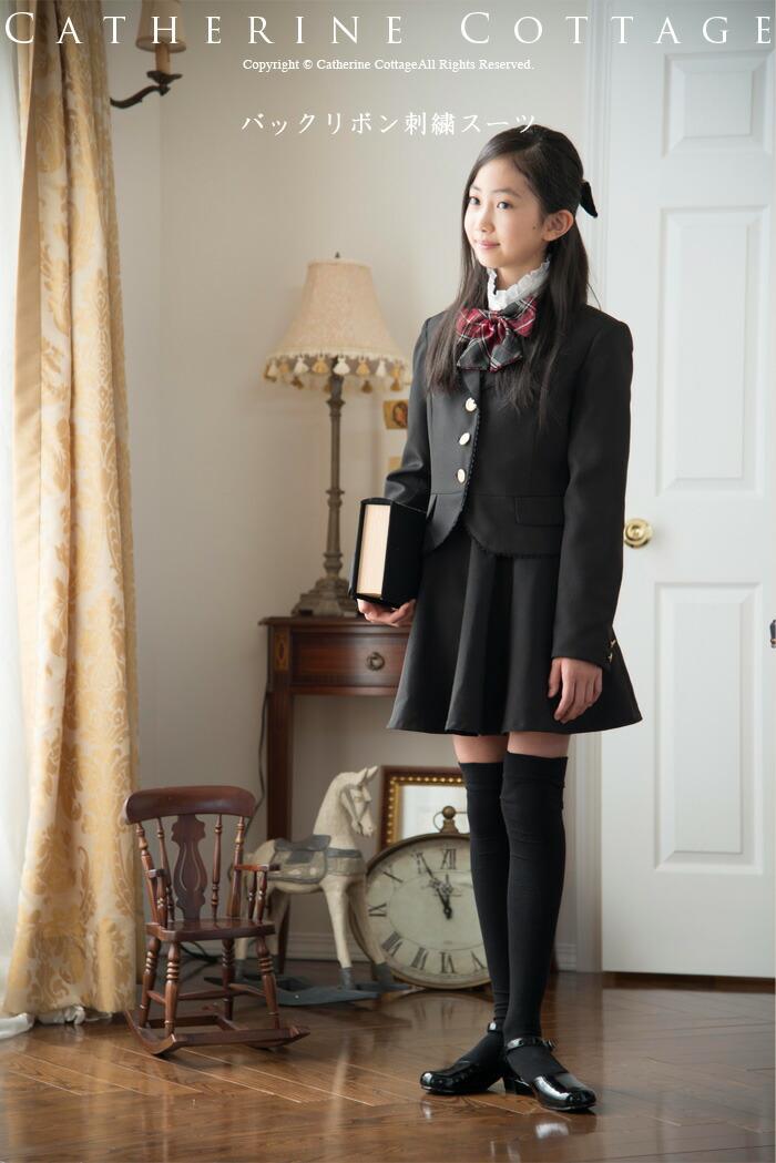 バックリボン刺繍スーツ