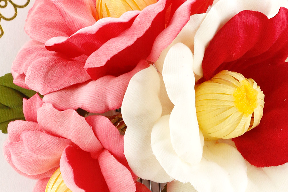 造花の髪飾り