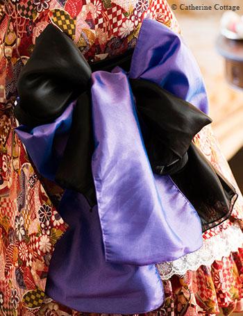 キャサリンコテージ オリジナル ちりめん着物ドレス 帯の色合わせ、素材へのこだわり