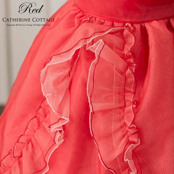 ジュニア ドレス 真紅