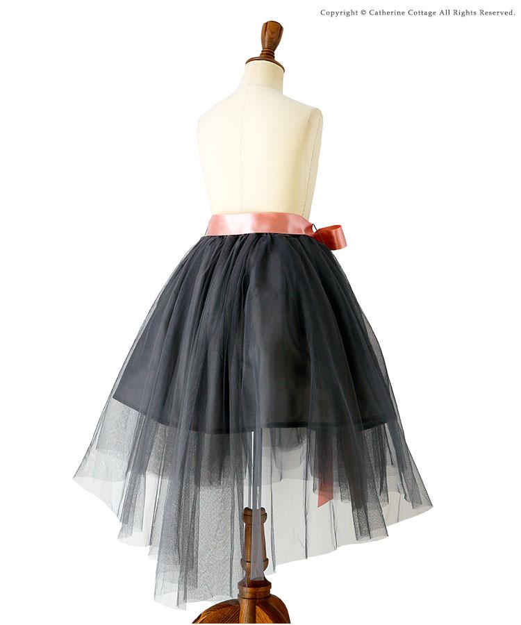 子供服 女の子 スカート ネイビー グレー
