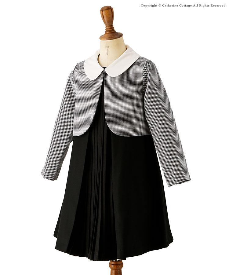 女の子 入学式 白襟ボレロ&ワンピーススーツ