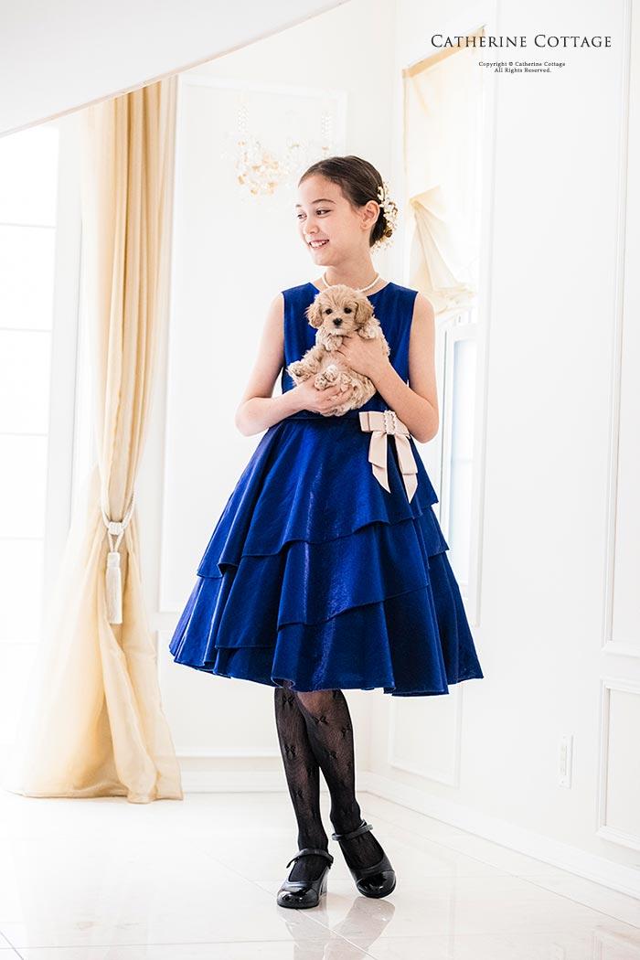 女の子ドレス サテン カラードレス