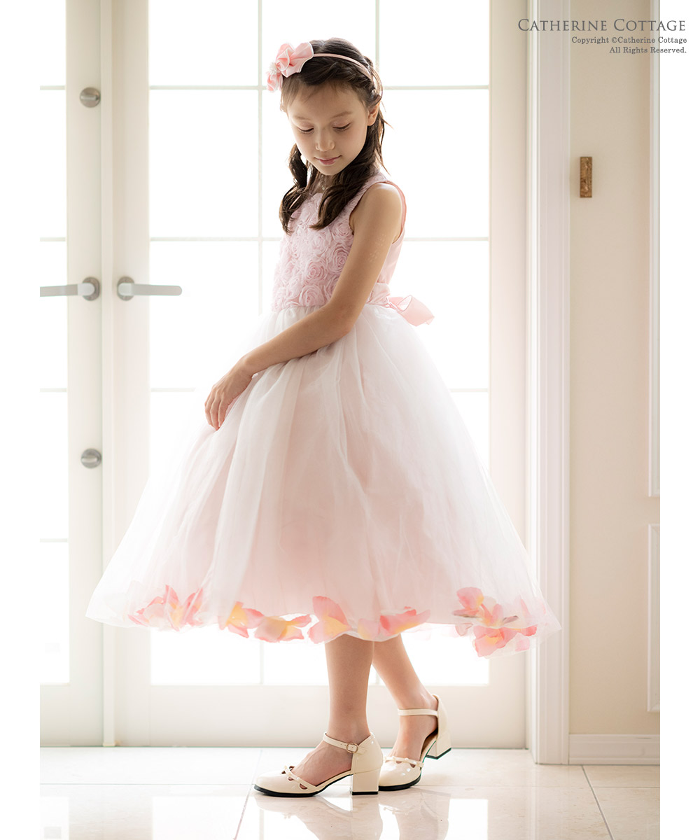 ドレス バラ柄 チュール