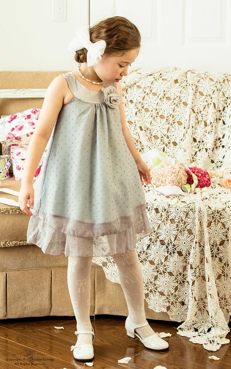 子供ドレス グレー
