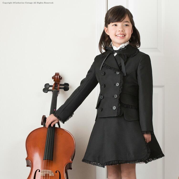 付け襟を使った入学式の子供服コーディネート