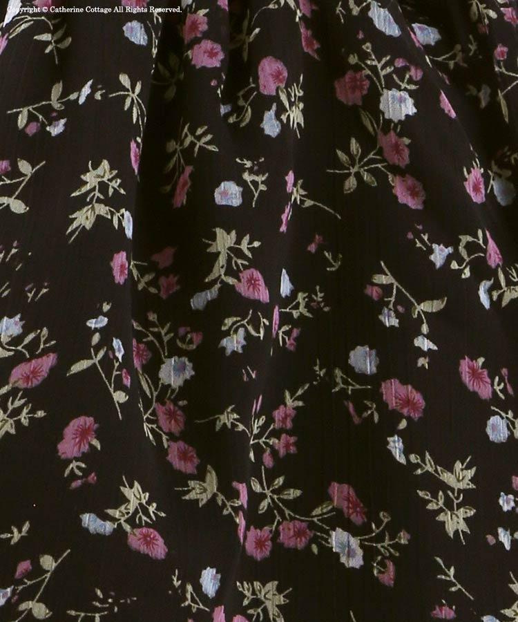 小花柄シフォン