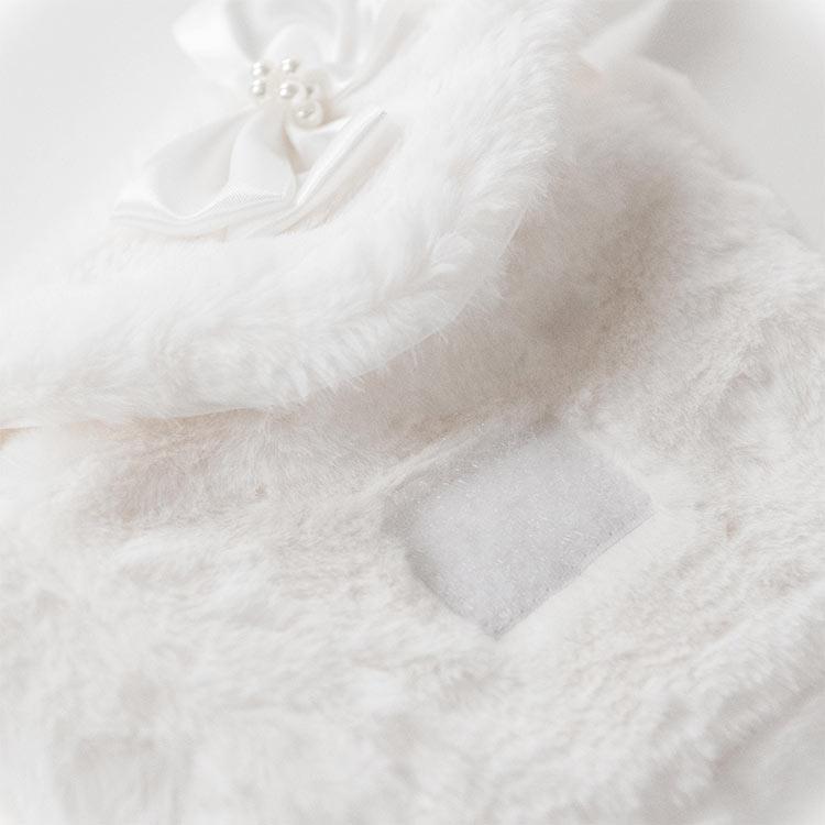 女の子 ファーポシェット バッグ もこもこ リボン 白 キッズ かわいい 斜めがけ ショルダーバッグ 秋冬 フォーマル カジュアル プレゼント ギフト