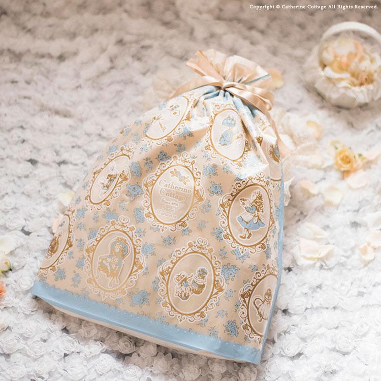 アリス柄ラッピング袋 プレゼント 贈り物 お祝い 可愛い かわいい ギフト 誕生日 クリスマス ギフト袋