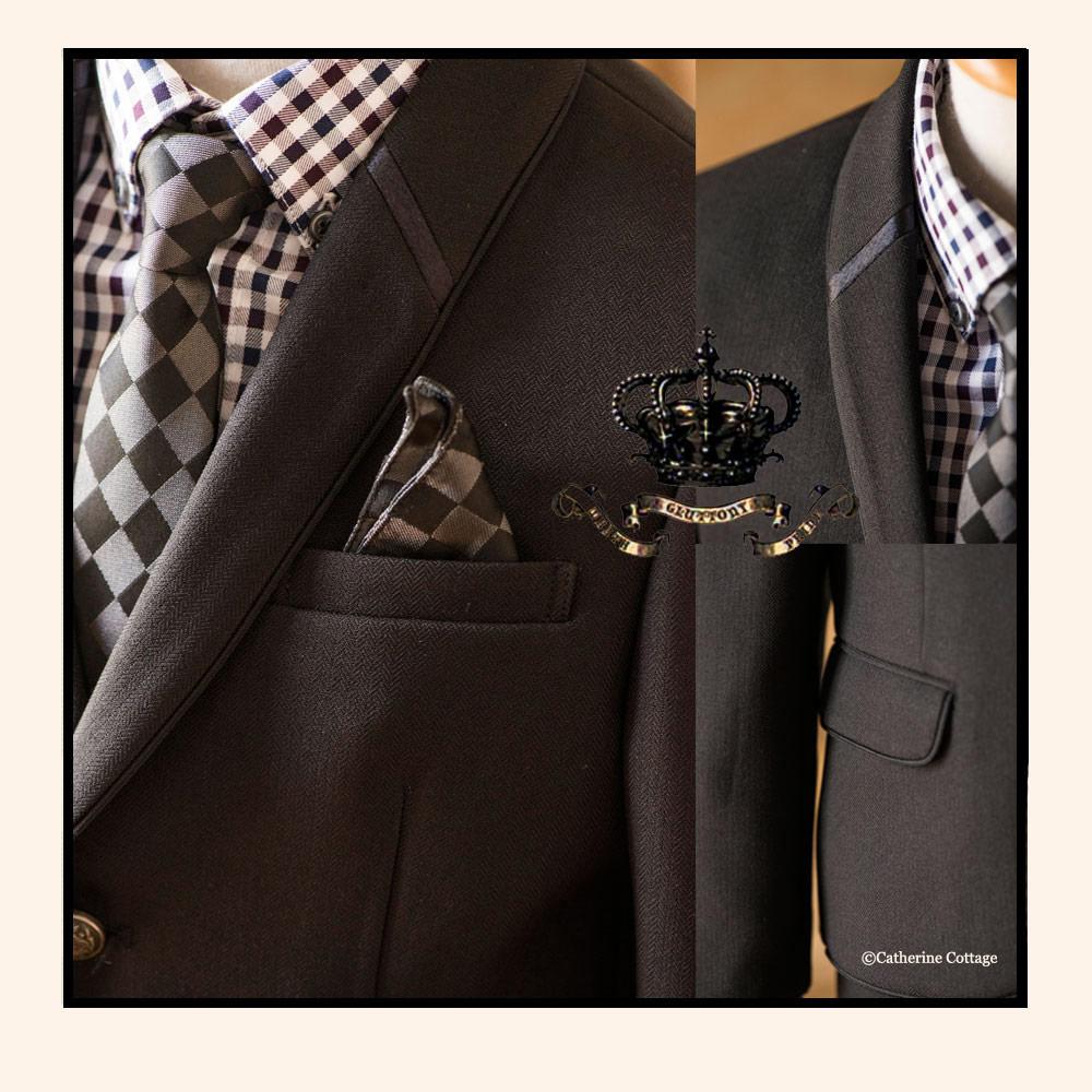 ショールカラージャケット 男の子 キッズジャケット スーツ