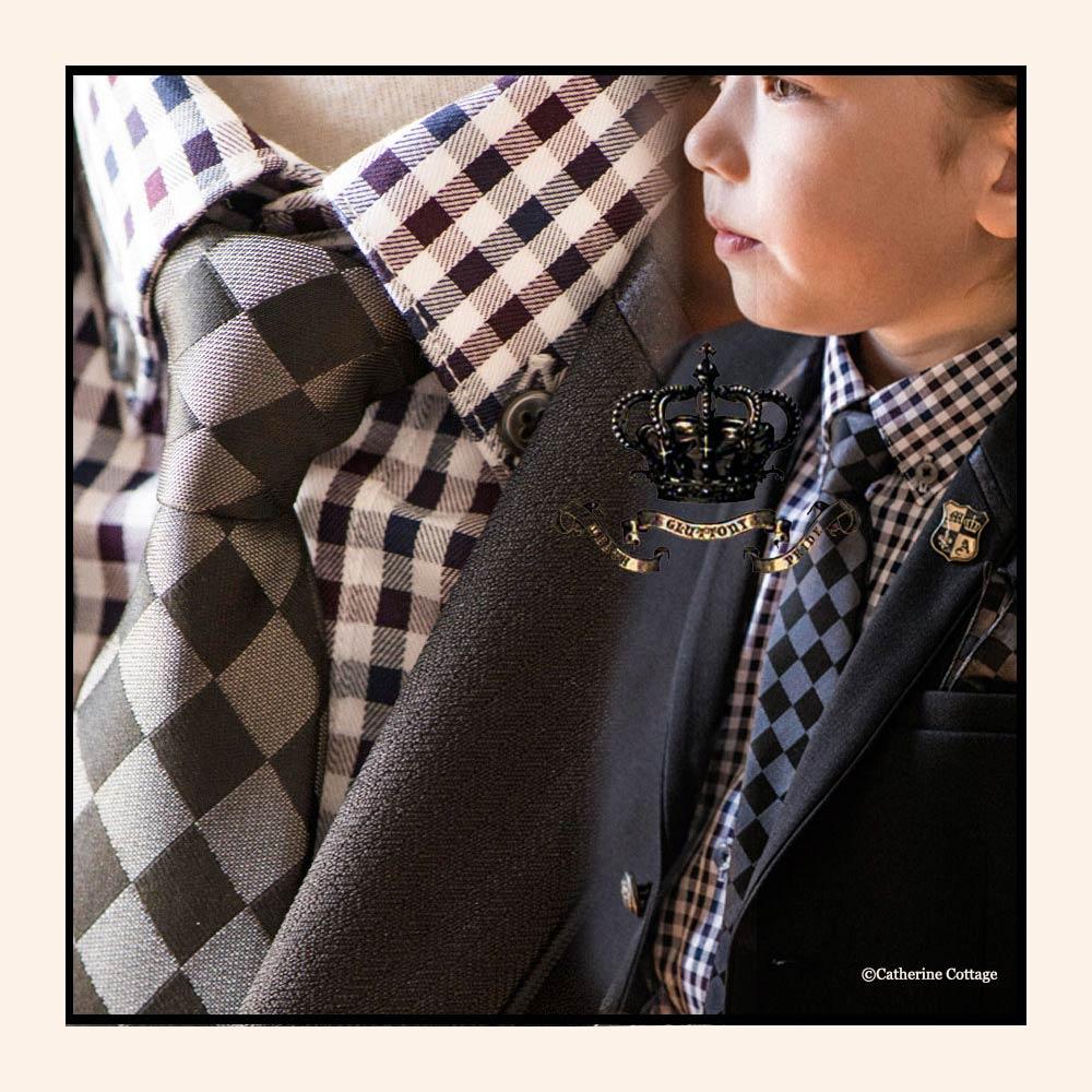 チェックシャツ 男の子スーツ キッズ ボーイズ