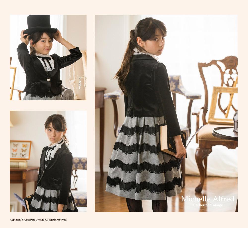 フォーマルベロアジャケット 高級 入学式 卒業式 女の子 子供服