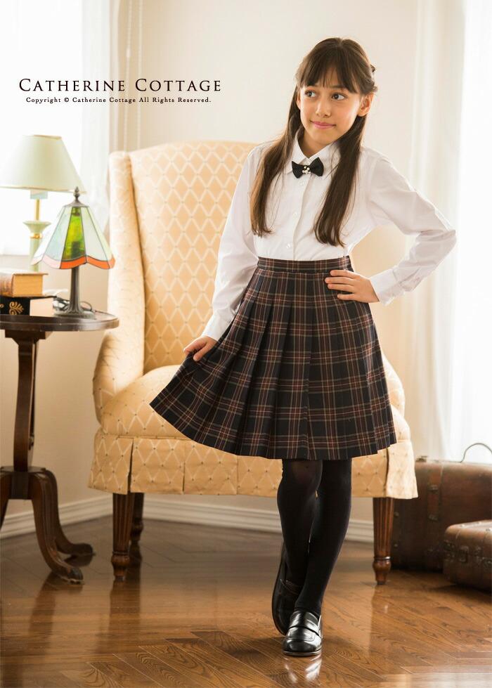 チェックスカート 制服風 プリーツスカート 卒業式 入学式