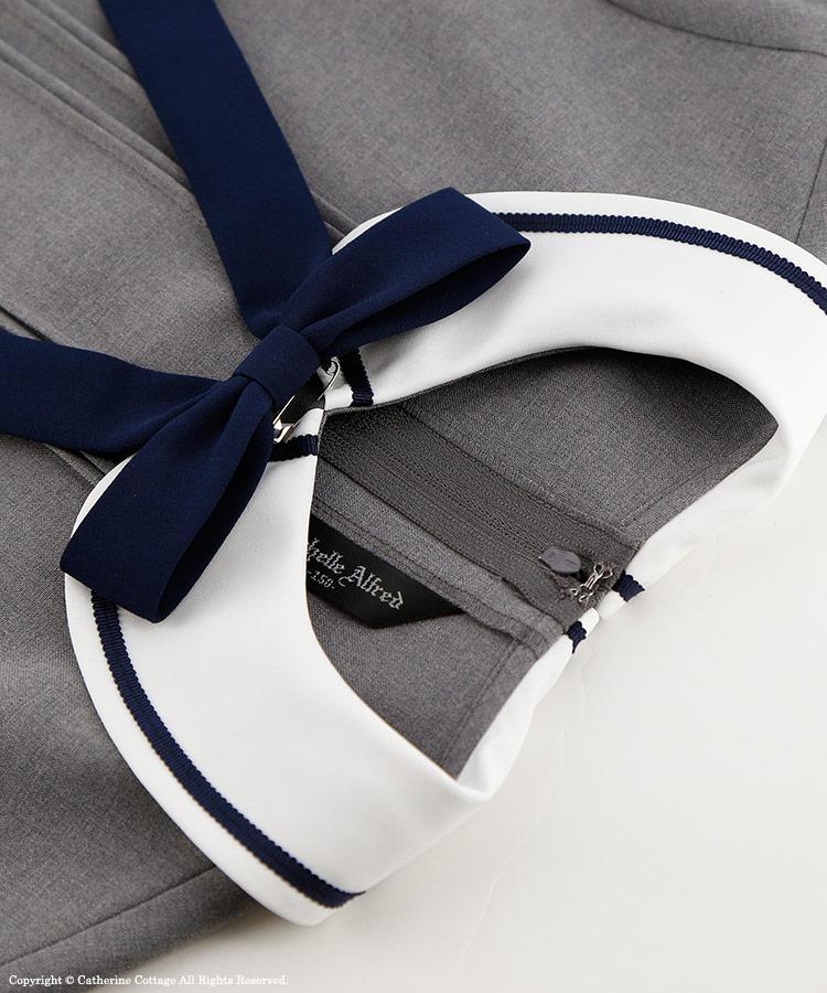 半袖ワンピースの付属のリボンブローチ