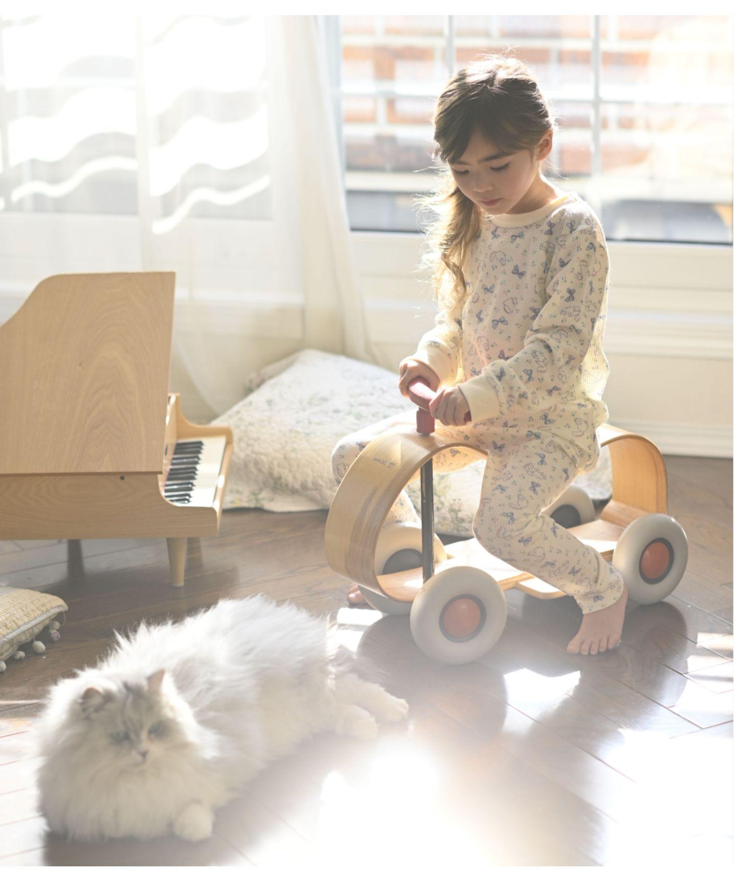 女の子猫柄リボンルームウェア