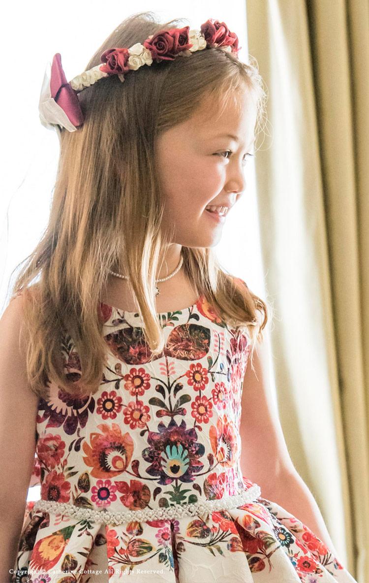 フラワーティアラ 子供ドレス用