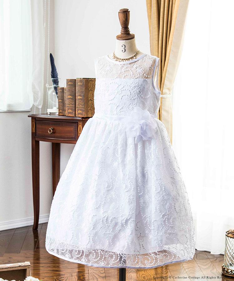 女の子 子供 フォーマルドレス 結婚式 発表会 フォーマル ホワイト