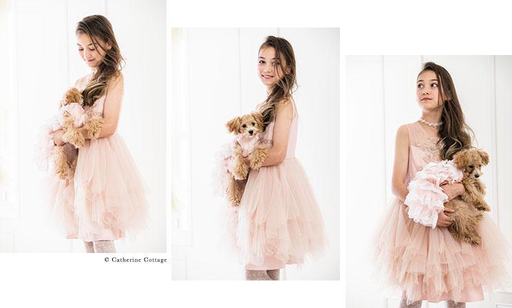 110 120 130 140 150 155 cm ドレス 白 ピンク
