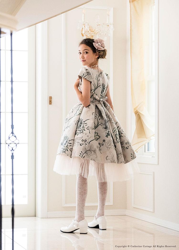 女の子ドレス 高見え 大人っぽい シャンパンゴールド
