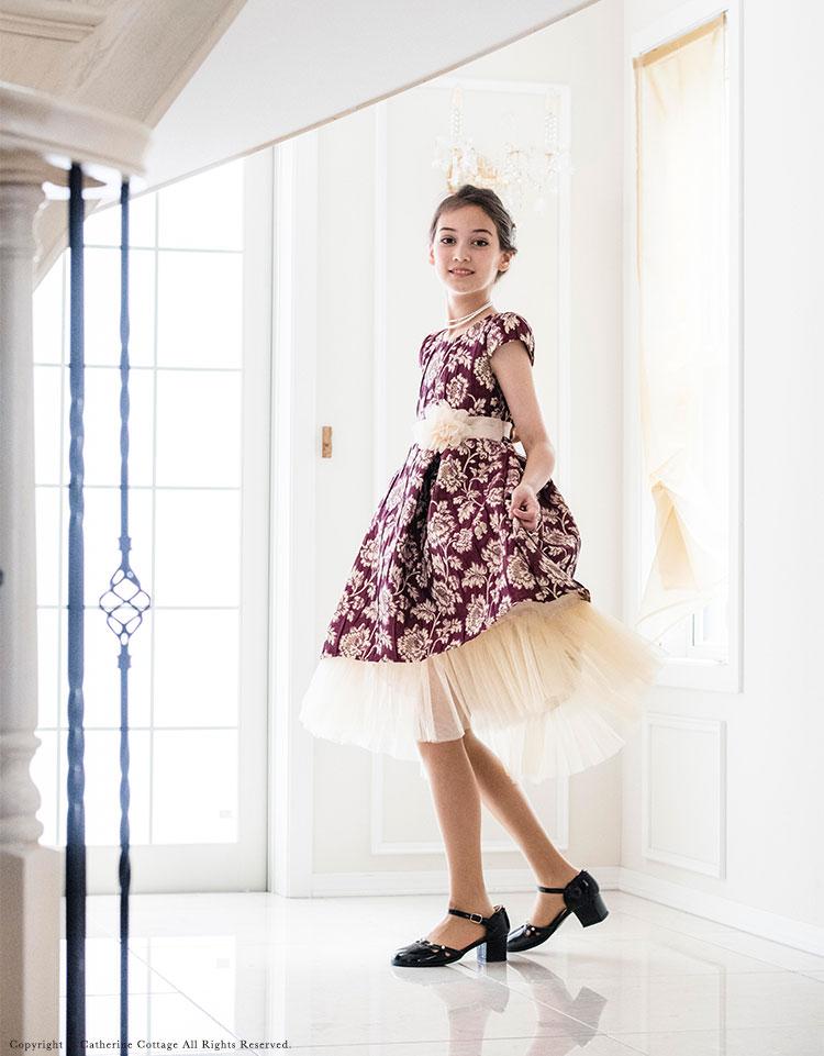 110 120 130 140 150 155 cm ドレス 紫 青 赤 緑