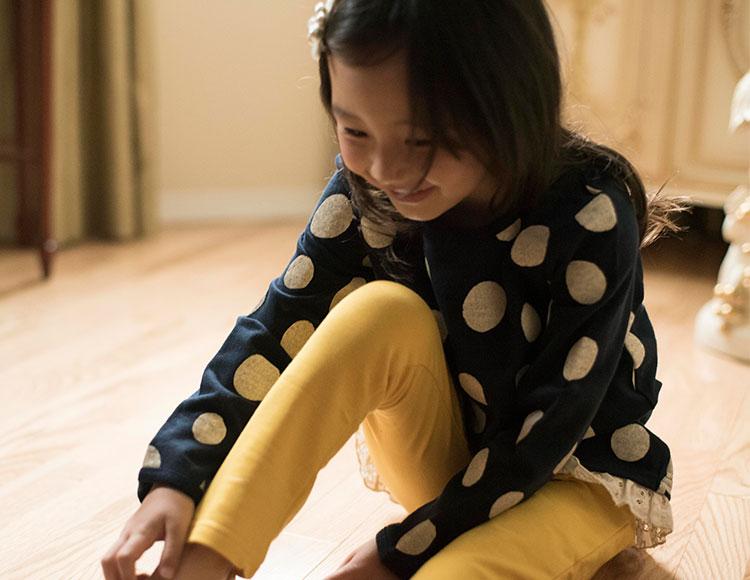 女の子 カジュアル スウェット プルオーバー チュニック かわいい 紺 ピンク グレー ライラック