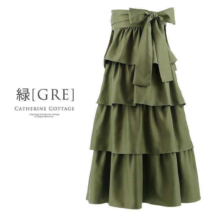 女の子 卒園式 卒業式 4段ティアードフリルの袴スカート 単品 110 120 130 140 150 160 cm 和装