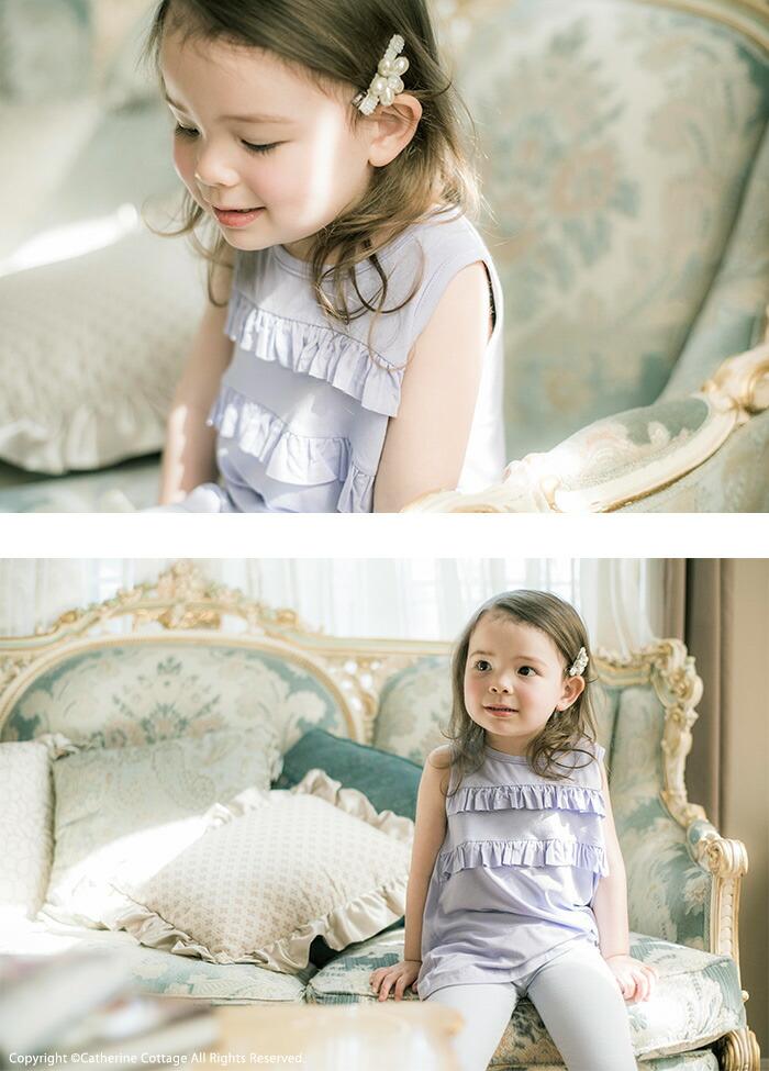 タンクトップを使った女の子用子供服のコーディネート