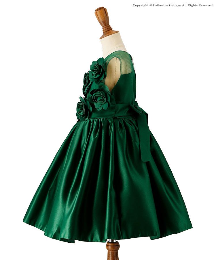 キッズドレス 結婚式発表会 フォーマルローズドレス