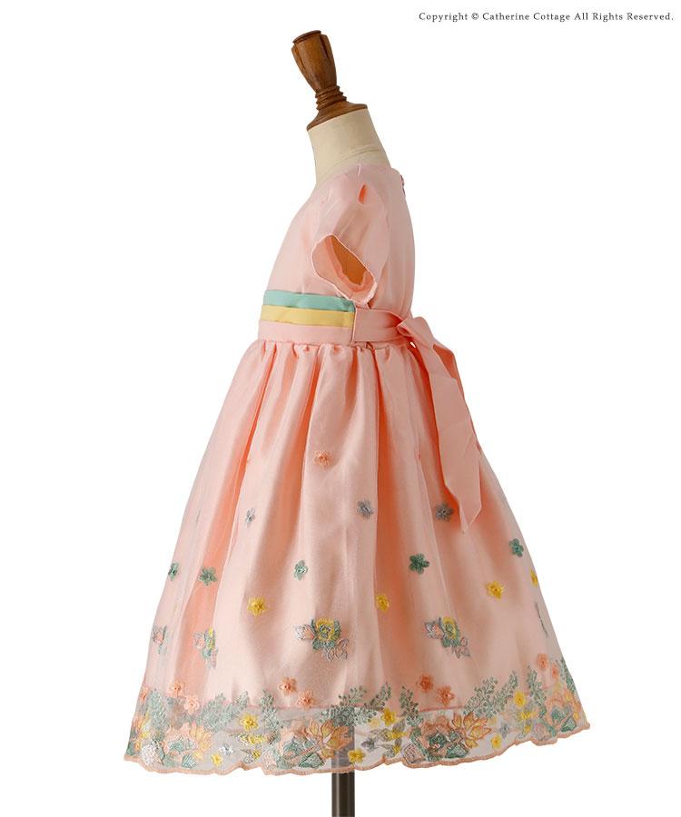キッズドレス 結婚式 発表会 パステル刺繍ドレス