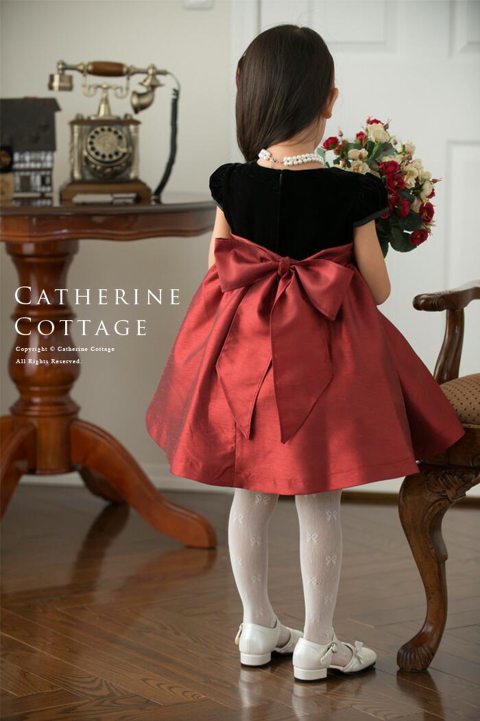 10b71ceb8b102 楽天市場 子供ドレス ベロアとパールリボンのシンプルドレス 子供服 ...