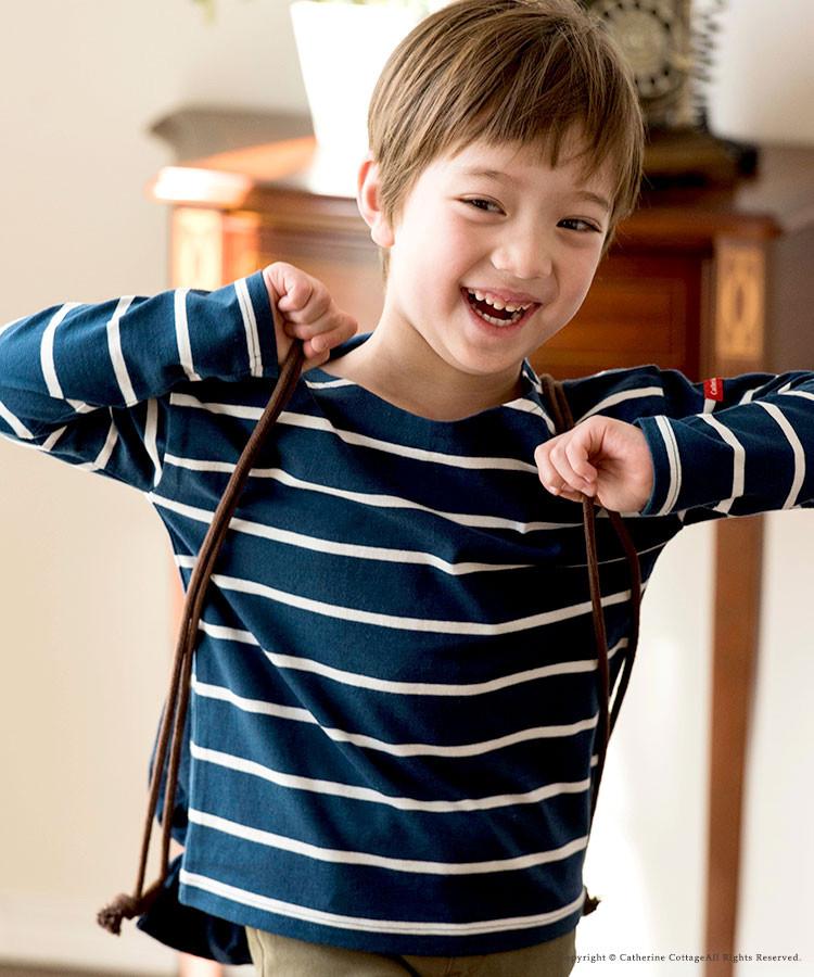 子供服 キッズボーダー長袖Tシャツ 子供 男の子 女の子 ロンT 長袖 黒 グレー 青 紫 ベージュ