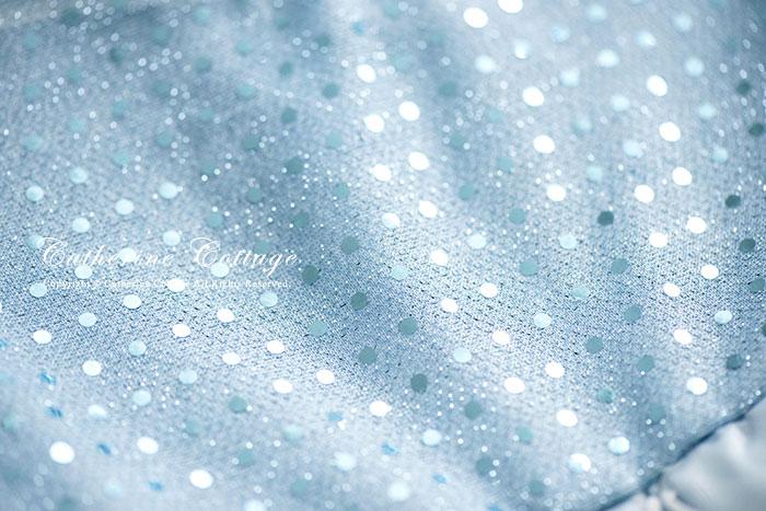 スパンコール七分袖ドレス