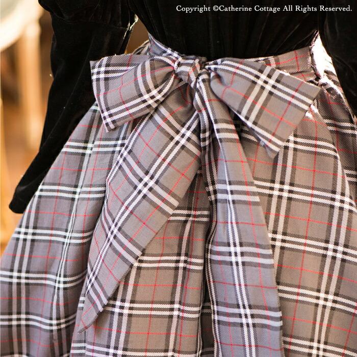 アリスコレクション 子どもドレス タータンチェック