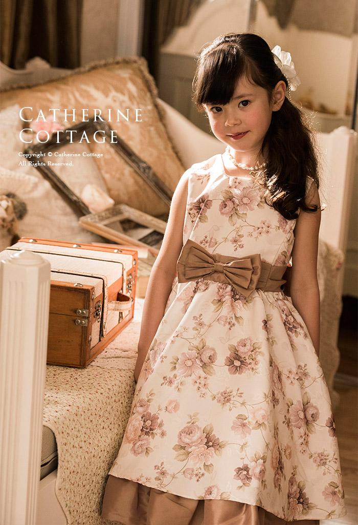 子供ドレス クラシカルローズプリントドレス 子供フォーマルドレス 子ども キッズドレス 発表会 結婚式 ワンピース 花柄 薔薇 バラ アリスコレクション