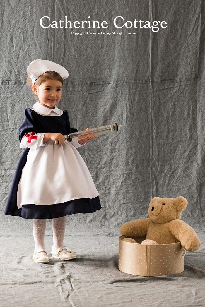 【楽天市場】ハロウィン 衣装 子供 コスチューム クラシカルナース ナースキャップ ドレス 腕章 子供