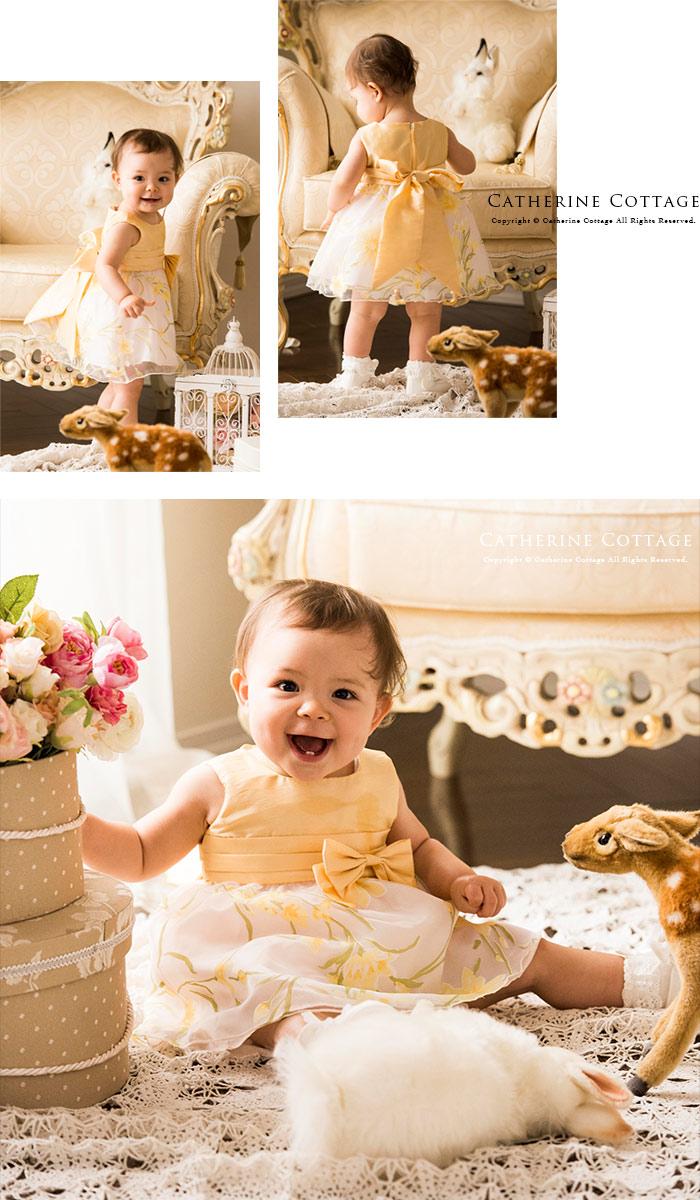 ベビードレス 黄色